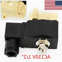 """1/2"""" Brass Electric Solenoid Valve Pneumatic Water Oil Air G"""