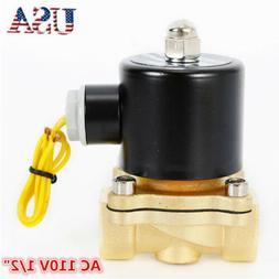 """1/2"""" Electric Solenoid Valve Water Oil Air Gas Welders 110 v"""