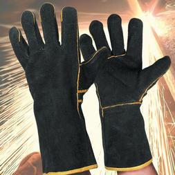 1 Pair  Black Heavy Duty Mig Welding Gloves Gauntlets Welder