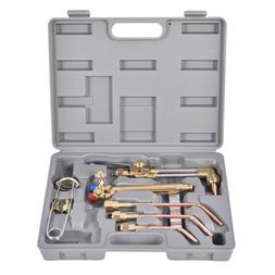 Goplus 10 PCS Oxygen Acetylene Welding Cutting Torch Kit Wel