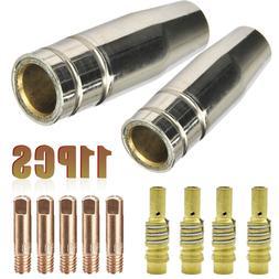 11 in 1 Welding Torch 0.8mm 0.030 Nozzle Contact Tip MIG Wel