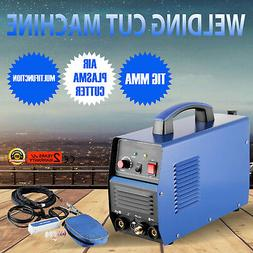 110V TIG/MMA Welder + Plasma Cutter 3 in 1 Welding Machine +