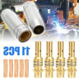 11pc Welding Torch 0.8mm 0.030 Nozzle Contact Tip MIG Welder