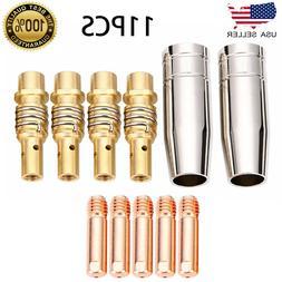 11pcs/Set MIG Welding Nozzle Welder Torch Nozzles Gold Tip H