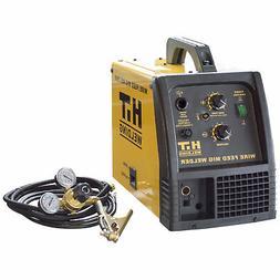 HIT 140 Amp MIG 120V Welder Includes Gas Hose, Regulator, 10