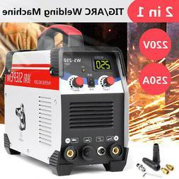 220V 2 In 1 TIG Stick/ARC Inverter Welding Machine AC DC 250