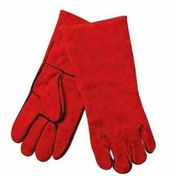 2* Red Protective Gloves Woodburner Welder Gauntlet Long Lin