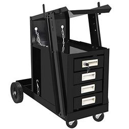 F2C 2-Tier 4-Drawer Cabinet Welding Cart Mig Tig Arc Plasma