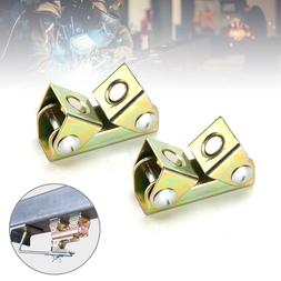 2Pcs Adjustable Magnetic Welding Clamps V Type Pads Fixture