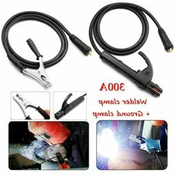 300A Ground Earth Clamp Stick Welder Cable For MMA ARC Weldi