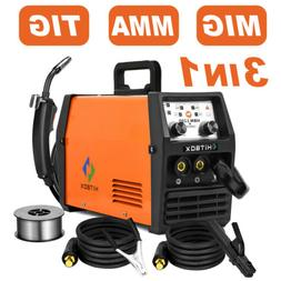 HITBOX 3 in1 MIG Welder Inverter 220V Lift TIG ARC Wire Gasl