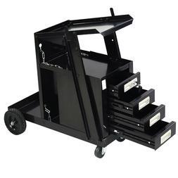 4 Drawers Cabinet Welding Welder Cart Plasma Cutter Tank Sto