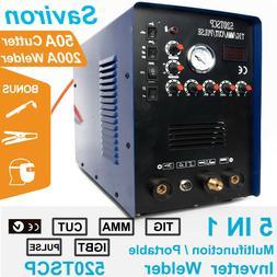 4 In 1 Multiprocess TIG Stick PULSE DC Welder Plasma Cutter