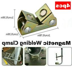 4 x Adjustable Magnetic Welding Clamps V Type Pads Fixture H