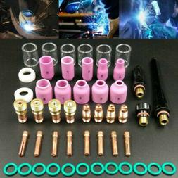 49Pcs TIG Welding Torch Glass Cup Kit Fit For WP-17/18/26 To