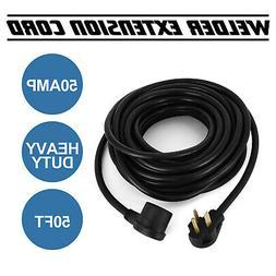 50Ft 230 Volt 50 Amp Heavy Duty 10/3 Welder Extension Cord f