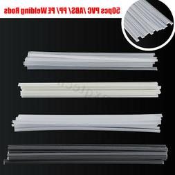 50Pcs PVC ABS PP PE Plastic Welding Rod Welding Sticks For P