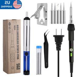 60W Soldering Iron Tool Kit Welding Adjustable Temperature G