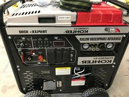 6500 watt generator air compressor welder kohler