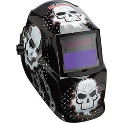 Auto Darkening Welding Helmet, Black/White, 600S, 9 to 13 Le