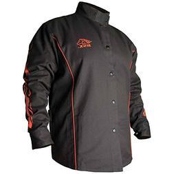 Black Stallion BSX BX9C 9oz. FR Cotton Welding Jacket, Black