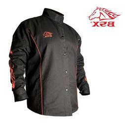 Black Stallion BSX BX9C 9oz. FR Welding Jacket Black W/ Red