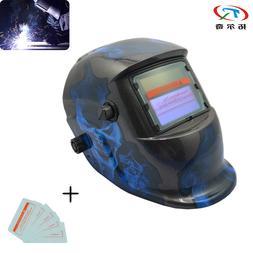 trqwh blue flame skull <font><b>welding</b></font> helmet au