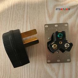 C50 amp 220 Volt 3 prong Plug & Female Receptacle Electrical