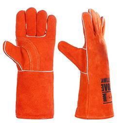 QeeLink Welding Gloves - Heat Resistant & Wear Resistant Lin