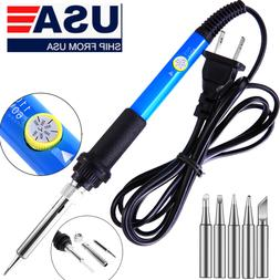 Electric Soldering Iron Gun Adjustable Temperature 60W Weldi