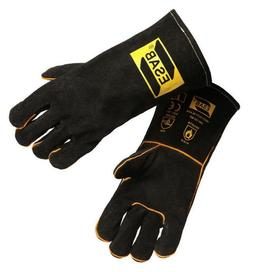 ESAB Heavy Duty Black Welding Gloves, MIG Welders Gauntlets,