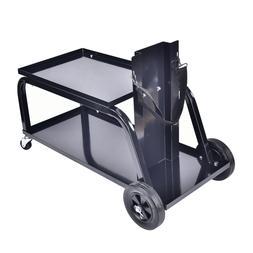 heavy duty rolling mig welding cart tig