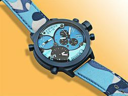 Welder K29-8006 Triple Time Zone Chronograph Blue Men's Sp