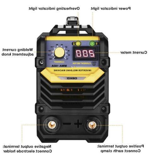 DEKOPRO MMA Welder,160A ARC Machine IGBT Digital Hot