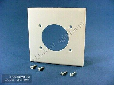 Leviton 80726-W 2-Gang Flush Mount 2.15-Inch Diameter, Devic