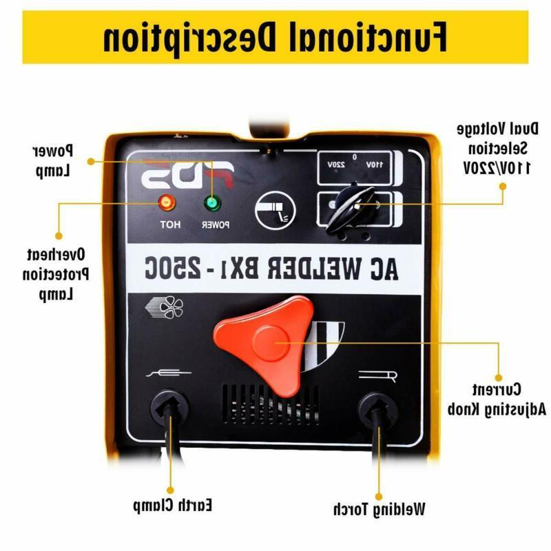 Goplus 250 Amp Welder Arc Welding 110V/ Accessories T