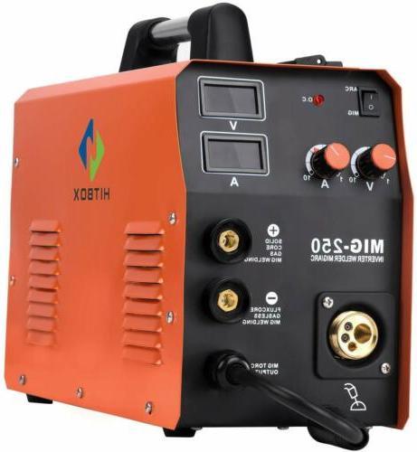 HITBOX 4in MIG Welder Gas Gasless Lift TIG Machine 220V