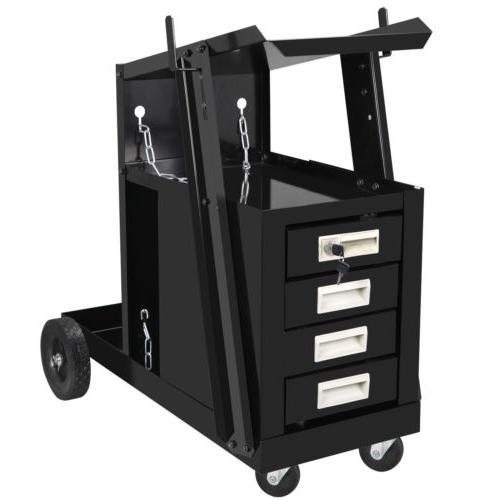 4 Drawer Welding Cart MIG Storage