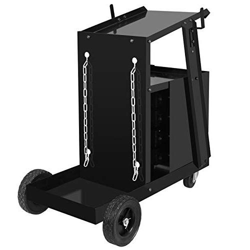 ZENY Portable Cart Plasma Cutter Storage w/2 Safety 100