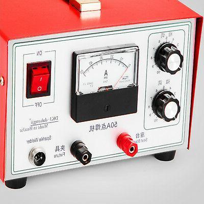 50A Sparkle Spot Welder Platinum Jewelry Machine 110V