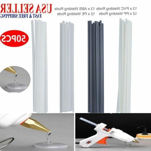 50pcs plastic welding rods abs pp pvc