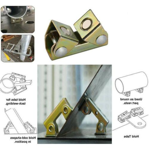 Adjustable Welding Clamps V Pads Strong Welder Tool KD