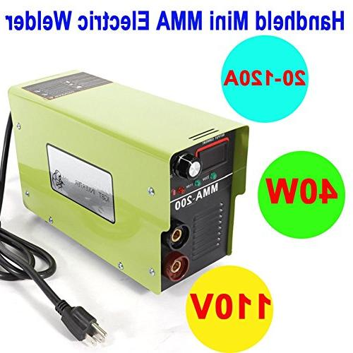 Arc Welder, MMA-200 Machine Handheld Mini 120AMP Electric Inverter 110V Welders Rods Electric Welders