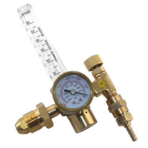 Argon CO2 Tig Flow Meter Gauge Gas Tig