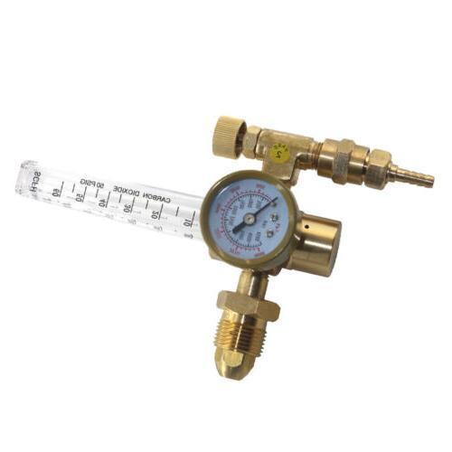 Argon CO2 Mig Tig Flow Meter Regulator Gauge Gas Welder Equi