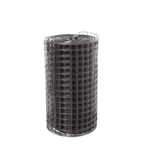 "Black Fencing PVC Coated Mesh 1.5"" x"