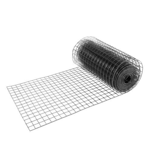 "Black Fencing PVC Coated Mesh 1.5"" 16 Gauge"
