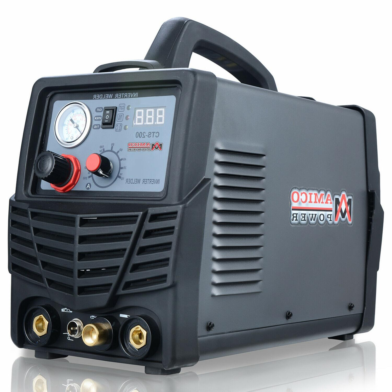 Amico CTS-200, 50 Amp Plasma Cutter 200A TIG/Stick Welder 3-