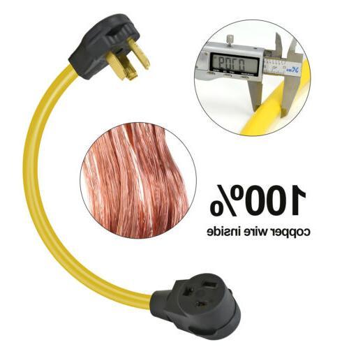 Flexible Welder Adapter NEMA 10-30P to NEMA 6-50R 10AWG Drye