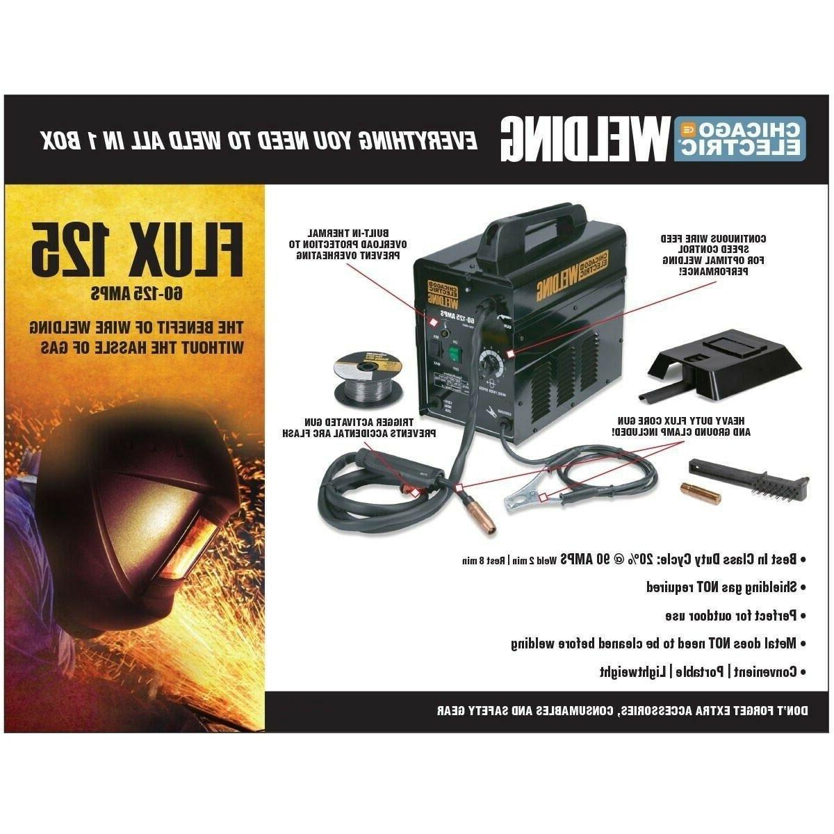 Gas Less 125 Core Portable Lightweight Welding Wire